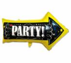 Фольгированный шар указатель Party 80 см
