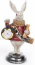 Декоративная фигурка с часами «Белый Кролик» 21см, красный кафтан