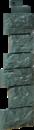 Цокольный сайдинг Угол Fineber Дикий камень Цвет Серо-зеленый