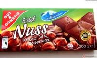 Молочный шоколад с цельными лесными орехами Edel Nuss