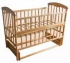 Ліжко дерев'яне маятник, відкидний бортик «Наталка»