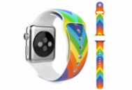 Ремешок Grand для смарт-часов Apple Watch 42 мм Sport Rainbow Colorful (AL989)