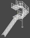 Проект металлическая лестница в два этожа