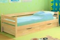 Кровать детская деревянная Нота