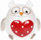 Банка «Совушка с сердцем» 950мл керамическая