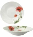 Набор 6 суповых тарелок «Красный мак» Ø20см, керамика