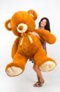 Плюшевый медведь Томми 200см Коричневый