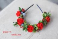 Обруч «Полум'яна троянда»