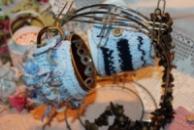 Чехол-грелка на чашку голубой «лохматый»/Чохол-грілка на чашку