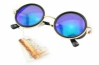 Солнцезащитные очки Cardeo гоглы в стиле стим панк сине-зеленые