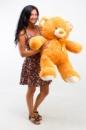 Плюшевый медведь Томми 100см Светло-коричневый