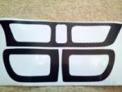 Наклейка под карбон на воздуховоды KIA RIO new 2012 комплект 4 шт