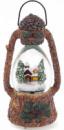 Декоративный фонарь «Зимний домик» с водяным шаром и LED-подсветкой 22.8см, музыкальный