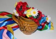 Венок для волос в национальном украинском стиле от автора Анны Юриной!