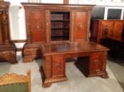 Антикварный кабинет (шкаф, рабочий стол) в стиле неоренессанc, 1920 г.