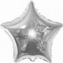 звезда серебро 45 см с гелием