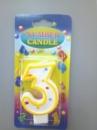 свечи-цифры в торт «3»