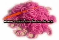Светло-сиреневые резинки для плетения Rainbow loom