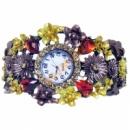 Часы браслет с цветами 5 цветов в наличии