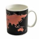 Чашка хамелеон «Карта мира»