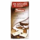 шоколад Torras білий з кокосом