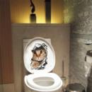 Виниловая наклейка котик
