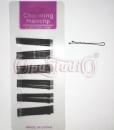 Невидимки волнистые черные 50 мм