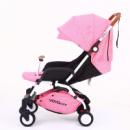 Детская коляска YOYA Care Розовая с белой рамой (20181116V-595)
