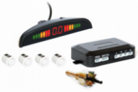 Парктроник автомобильный PAssistantна 4 датчика + LCD монитор (белые датчики)
