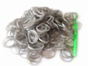 Серебряные резинки для плетения Rainbow loom