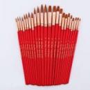 24 шт. Кисти комплект нейлоновые волосы деревянной ручкой Краски ing Кисточки различные Стиль короткий стержень масло, а