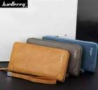Стильный мужской клатч портмоне BAELLERRY замшевая версия