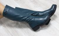 Зимние натуральные кожаные сапоги с молнией