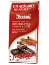шоколад Torras чорний з перцем та корицею