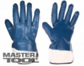 Перчатки масло-бензостойкие утепленные, нитриловое покрытие, манжет крага (синие), 10,5«, 116-120 г Господар 83-0407