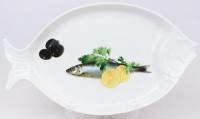 Блюдо для рыбы Sea Food «Оливки, лимон и зелень» 30х17см