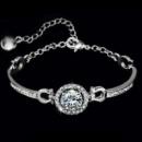 Женский браслет с камнями циркония 3,5 карата