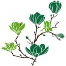 Виниловая Наклейка Glozis Magnolia Green
