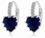 Серьги сердечки синие