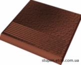 Ступень рельефная прямая структурная CLOUD ROSA Duro 30x30