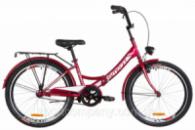 Велосипед 24« Formula SMART 14G тормозная St с багажником зад St, с крылом St, с фонарём 2019 (красный)