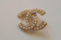 Брошка Шанель с жемчугом арт: В 104
