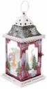 Новогодний фонарь-подсвечник «Снежная ночь» 15х15х32см
