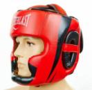 Шлем для бокса кожаный EVERLAST закрытый EV-5242-RВ красный-черный