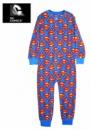 Сдельная пижама (слип, человечек, пижама-комбинезон) теплая на микрофлисе «Супермен», бренд «DC Comics» (США)