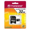 MicroSD 32Gb HC4 Transcend +перехідник на SD