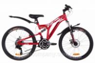Велосипед 24« Discovery ROCKET AM2 14G DD St с крылом Pl 2019 (красно-белый с черным)