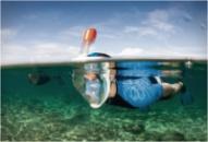 Дайвинг маска Tribord Easybreath Black для подводного плавания c креплением для камеры GoPro