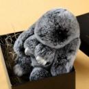 Брелок Кролик/Зайчик из натурального меха (Rex Fendi charm Рекс)