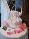 Свадебная сумочка белого цвета